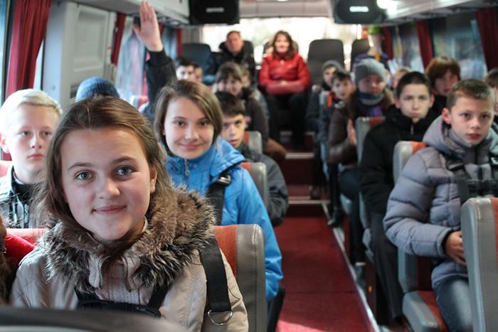 Заказ автобусов для перевозки школьников